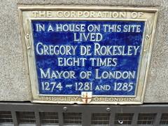 Photo of Gregory De Rokesley blue plaque