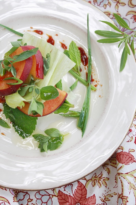 Peach and Herb Salad
