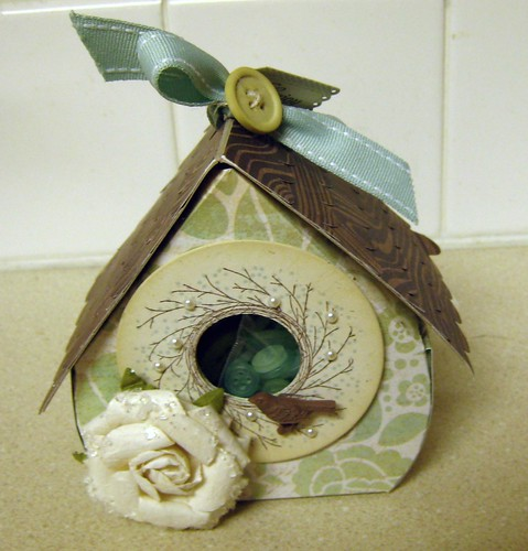 Denise's Paper Birdhouse by tworiverssoaps