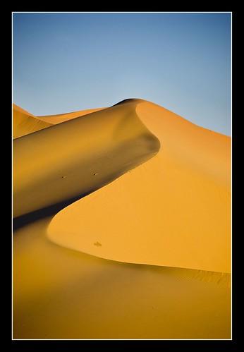 Dune at the Sahara desert