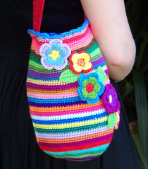 Multicoloured Crocheted Bag (colourmad1) Tags: multicoloured bags crocheting