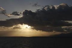 津軽海峡の夕陽