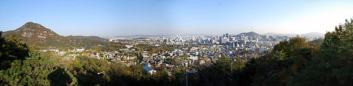 Downtown Seoul, from Mt. Inwangsan