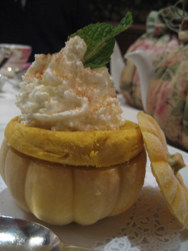 Pumpkin gelato inside a real pumpkin!
