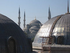 aya sofia blue mosque view
