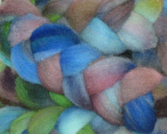 Slumbering Garden Carded Rambouillet Roving -- 4 oz (Spiffy Knits)