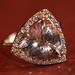 Pink Morganite Ring with Pave Diamonds
