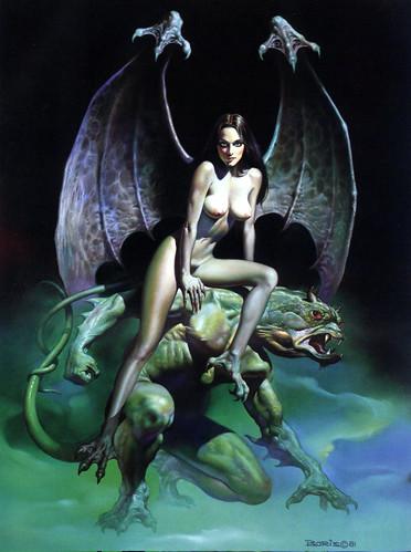 Erotic Fantasy - Boris Vallejo - Mirage 12 Incubus Scarecrow Angel (1)