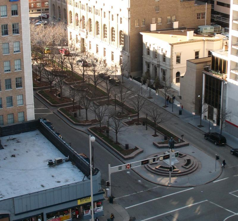 Piatt Park from the URS Bldg