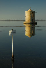 OldMill_0890 (trimmer741) Tags: italy reflection water lagoon explore tuscany orbetello oldwindmill