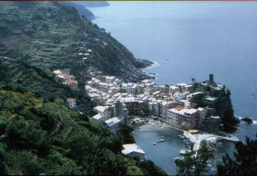 Vernazza far away on trail