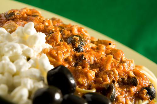 Cottage cheese & olive tomato-based sauce for chicken