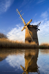 Brograve Level Mill on Reflection (. Andrew Dunn .) Tags: uk england reflection tower broken windmill reeds landscape britain norfolk derelict eastanglia drainage broads windpump norfolkbroads interestingness70 i500 towermill cy2 challengeyouwinner brograve brogravemill brogravelevels