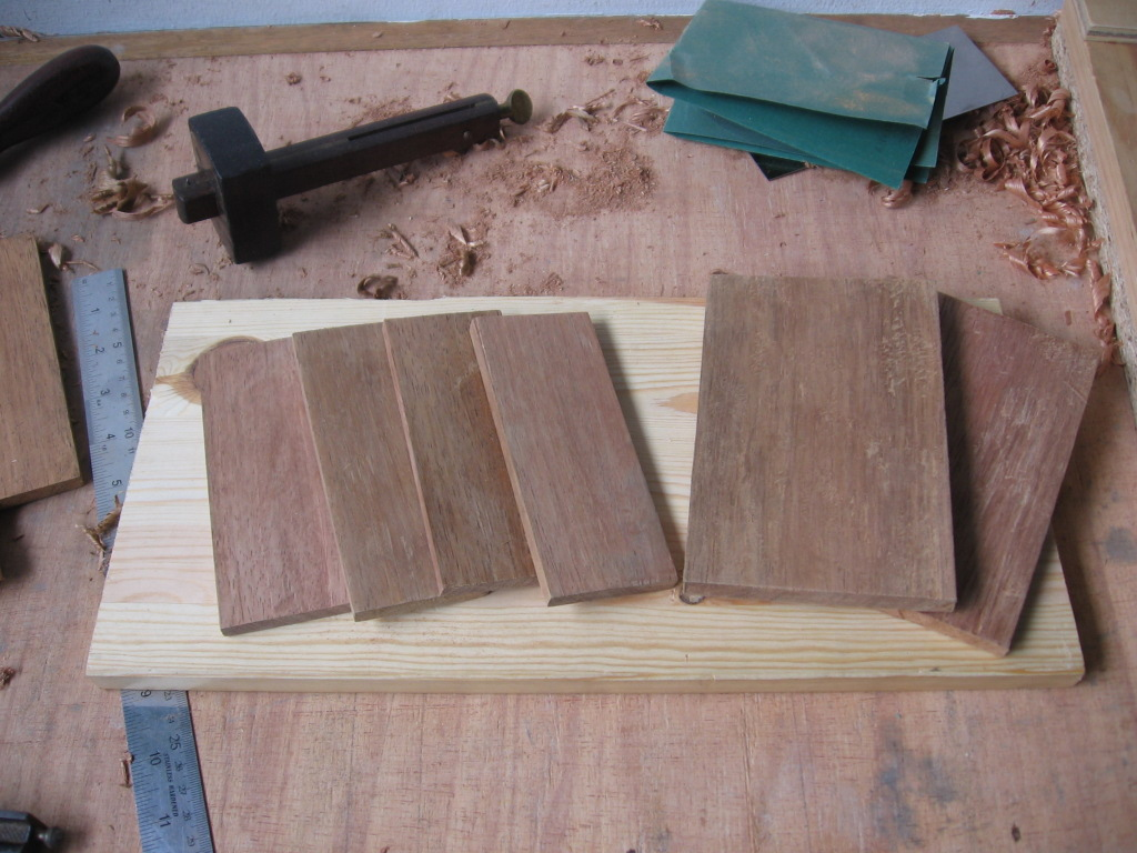 Dovetail Box - pieces