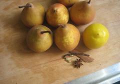 stewed pears