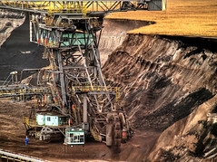 Bucket-Wheel Excavator (Batram) Tags: giant bravo mine surface mining 300mm tele coal hdr batram abigfave bucketwheelexcavatorbrown