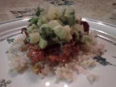 Spicy Chicken with Pineapple Avocado Salsa