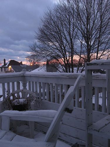 Balconey at Sunset