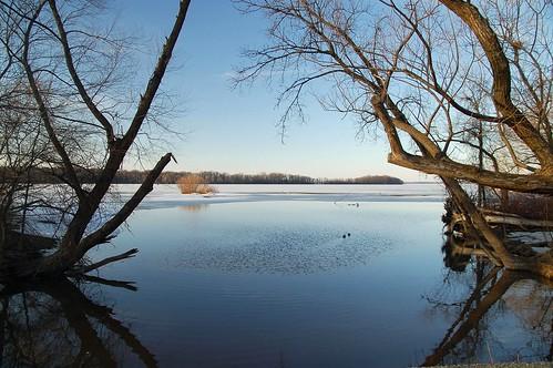 The river to the Lake Mendota