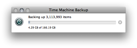 Time Machine Progress Bar