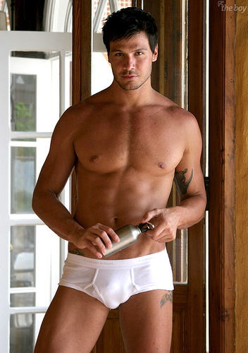 sexy latin hunk hot muscle shirtless handsome underwear male model