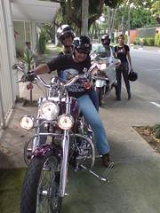 Cssio & Linda (my biker brother and his girlfriend) (Latenightpool) Tags: family brazil brasil brother sopaulo irmo digenes cassio cssio