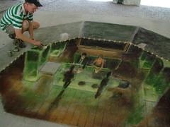 Julian Beever em ação (DeniSomera) Tags: art curitiba stree artista julianbeever