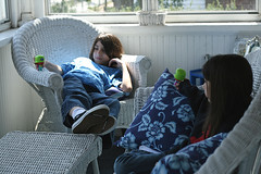 Favorite space (riaskiff) Tags: playing kids digital canon siblings hangin talking frontporch ef50mmf18ii sibs project365 canoneos30d happyspring 42208 favoriteroom 265365 riaskiff