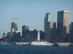San Francisco skyline from Sausalito-Ferry Building ferry