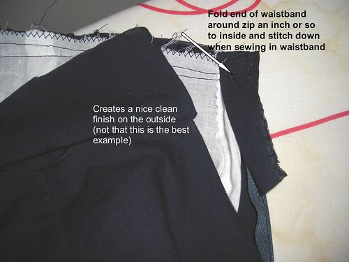 Fold Waistband Over Zip