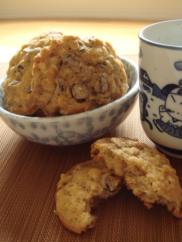 Banana Walnut Chocolate Cookies