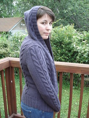 Central Park Hoodie complete! (stupid clever) Tags: knitsweater centralparkhoodie malabrigoyarn stupidclever