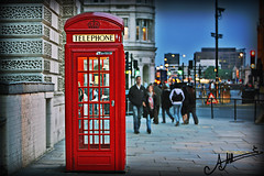 Distance cant keep us apart , (A.A.A) Tags: street blue red sky people color london colors canon booth photography phone random mark telephone iii royal colored aaa amna irresistible eos1ds althani canoneos1dsmarkiii eos1dsmarkiii amnaaalthani hawaalrayyanfav