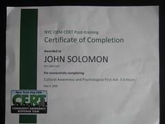 CERT Certificate