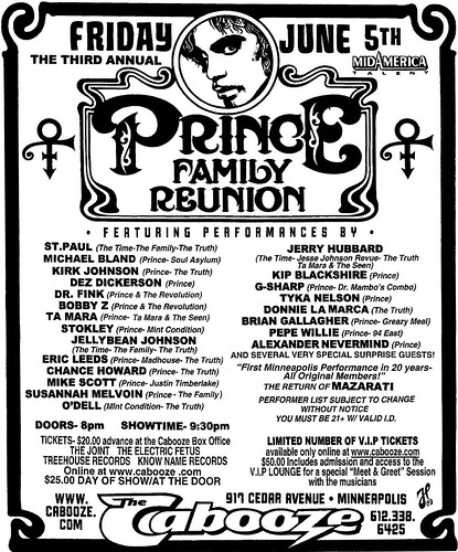 3rd Annual Prince Family Reunion Poster