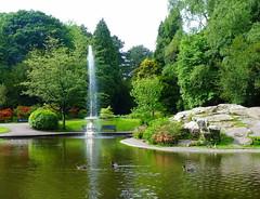 The Park. (cazstar) Tags: park flowers trees fountain pond ducks benches mygearandme