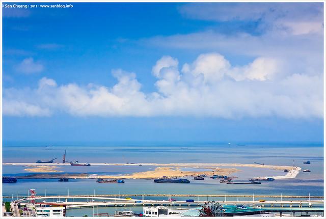 東望洋山上遠眺澳門