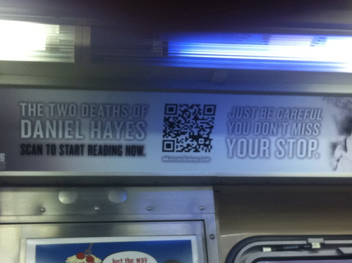 This is probably the best usage of a QR code that I've seen so far. Still don't think they'll catch on past nerds, though by littlelazer121