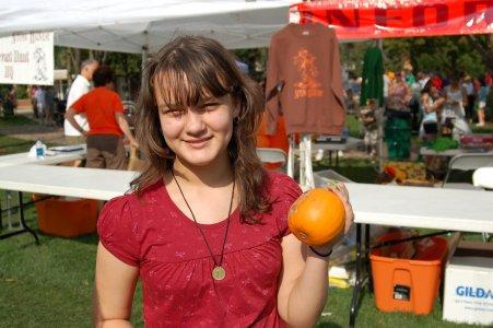 Tess at Autumn Harvest