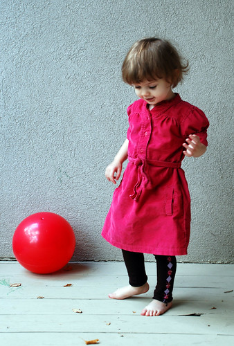 Pink corduroy dress 015 crop