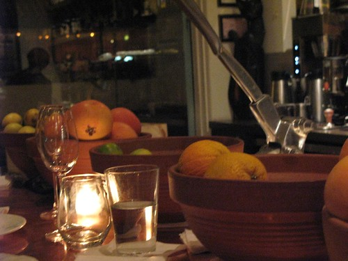 Bowls of Citrus on the Bar at HC