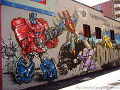 Transformers Graffiti Wall (Seetwist) Tags: streetart art shop wall tattoo canon graffiti alley mural colorado paint denver urbanart transformers spraypaint graff piece aerosol colfax tattooparlor freewall sd900 boundbydesign productionwall 303boards