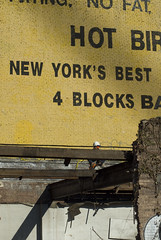 542 Vanderbilt demolition (threecee) Tags: hardhat newyork brick sign yellow architecture brooklyn steel painted demolition beam worker prospectheights demolished deanstreet vanderbiltavenue hotbird atlanticyards forestcityratner dsc5495 tracycollinsphotography 542vanderbiltavenue block1129lot50 542vanderbiltave