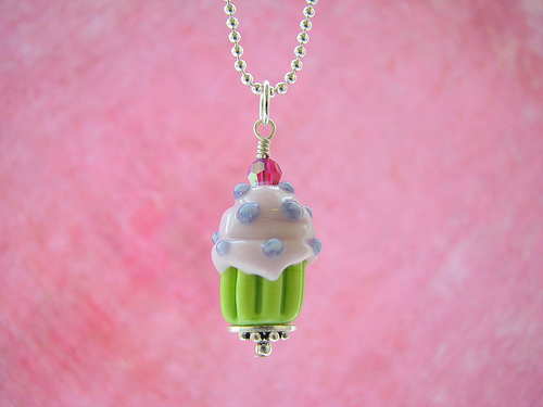Win this cupcake necklace!