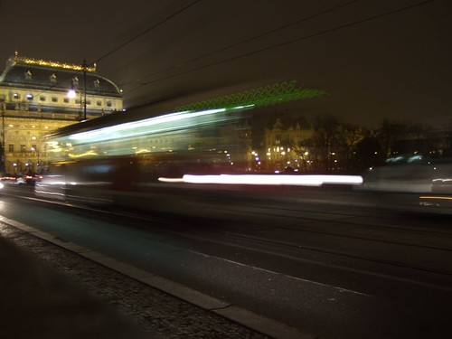 Tram on Bridge of Legions, Prague