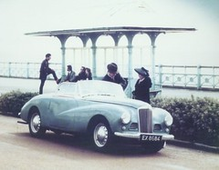 Sunbeam Alpine. (Rootes and rockers) (Lawrence Peregrine-Trousers) Tags: england boys seaside fifties teddy britain great alpine 1950s promenade british yarmouth seafront teds sunbeam rockers rootes ffffffffff sunbeamtalbot