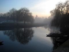 Misty, beautiful Cambridge