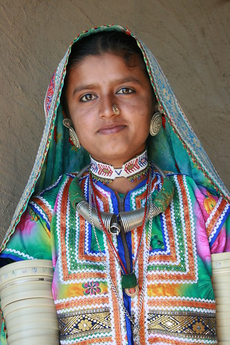 India Tribal Woman with Traditional Accessores