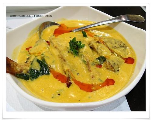 番紅花印度料理傳統旁納吉咖哩魚NT360