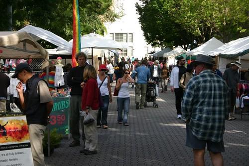 Hobart's famed Salamanca Market...